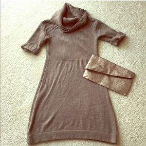 LOFT wool blend sweater dress EUC
